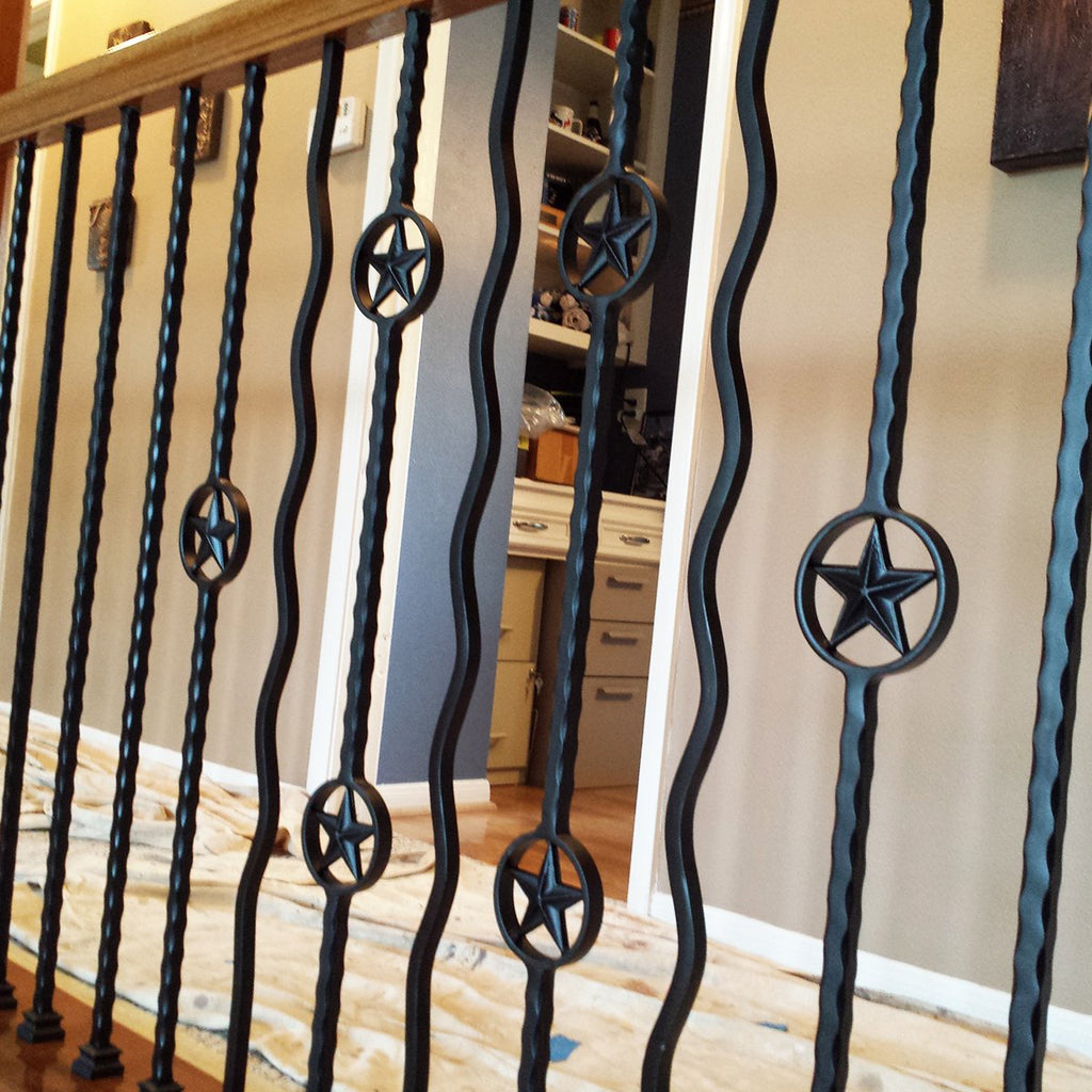 Contemporary affordable Plain Wavy Bar Wrought Iron Baluster