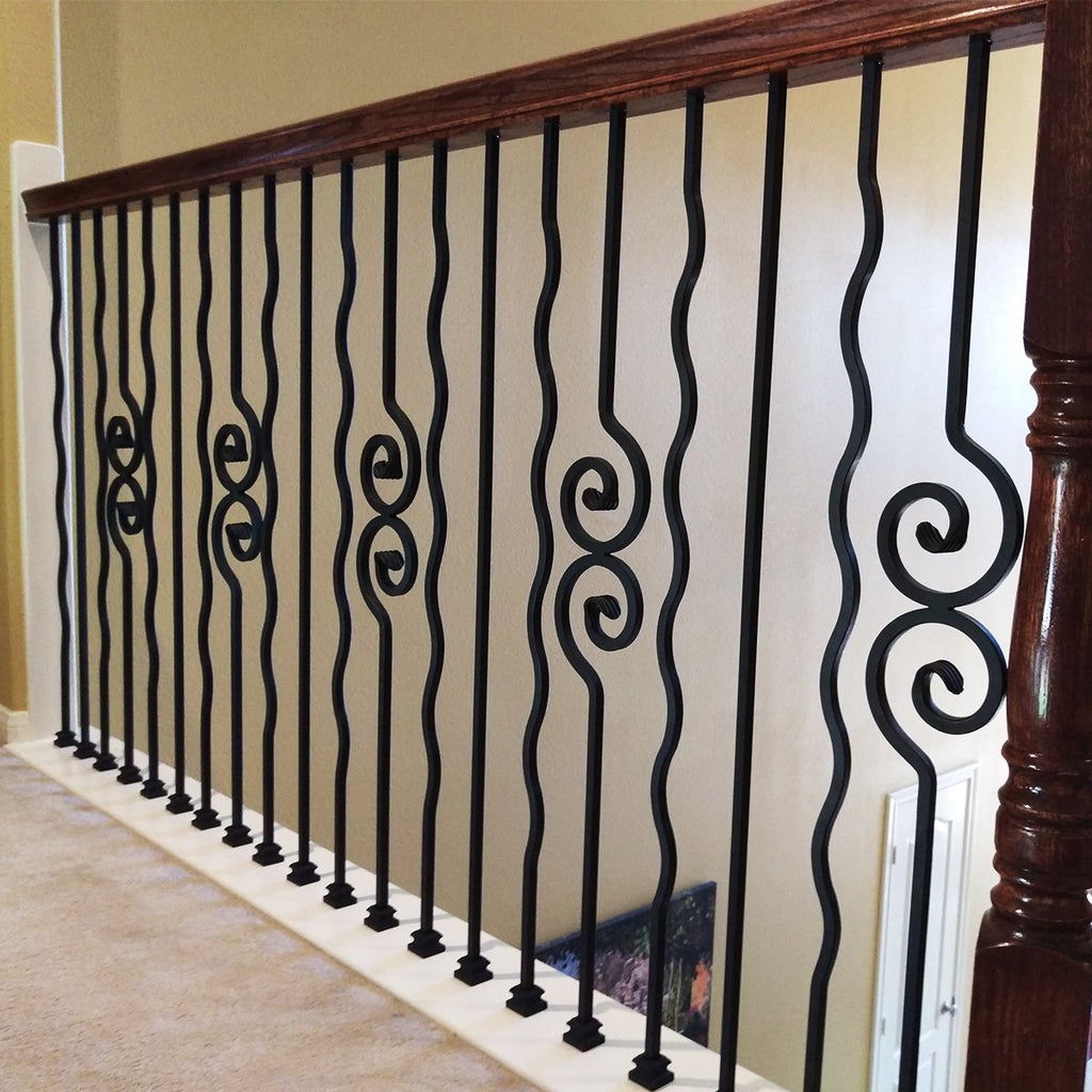 Plain Wavy Bar Wrought Iron Baluster PC46/1