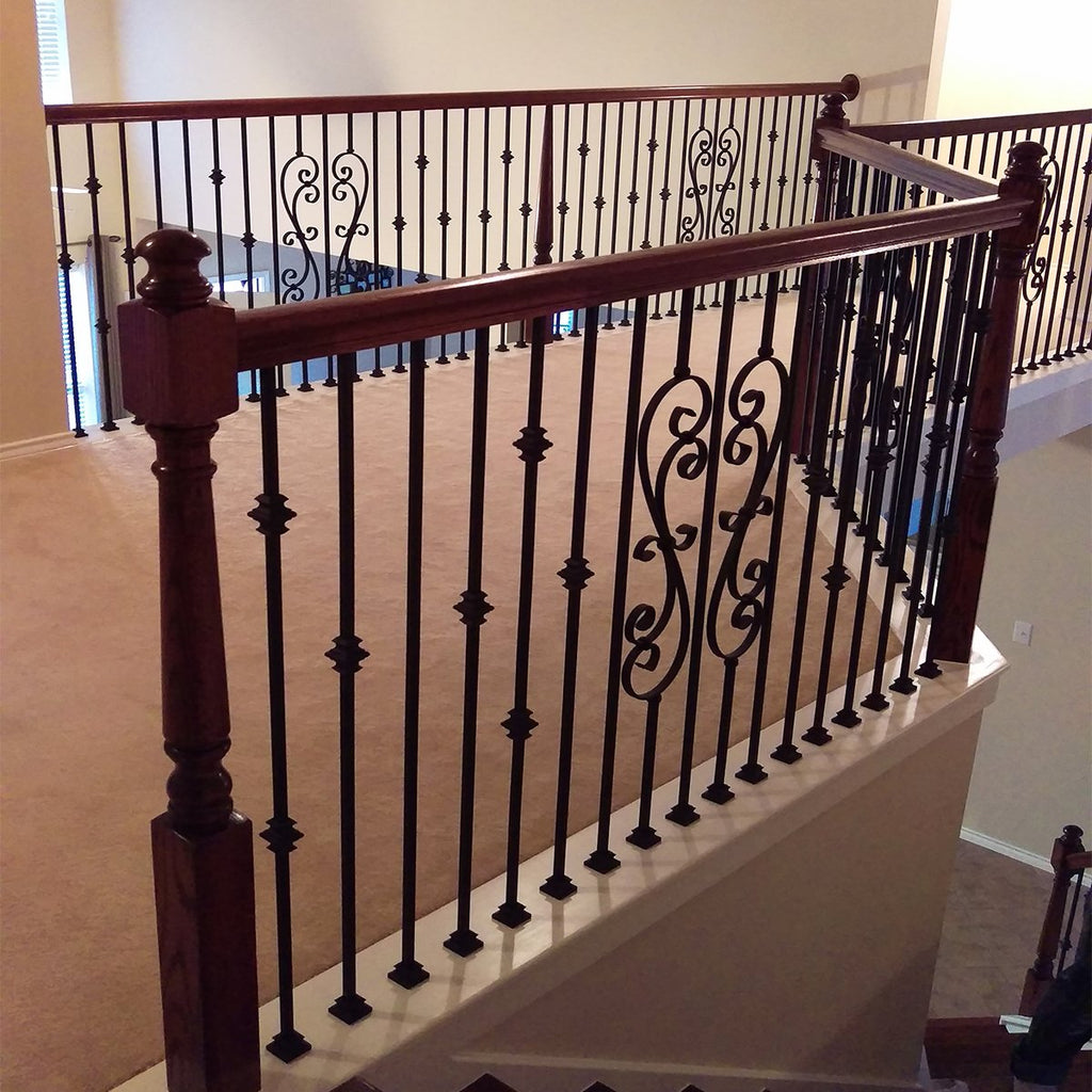 Cheap Skinny Scroll Wrought Iron Baluster