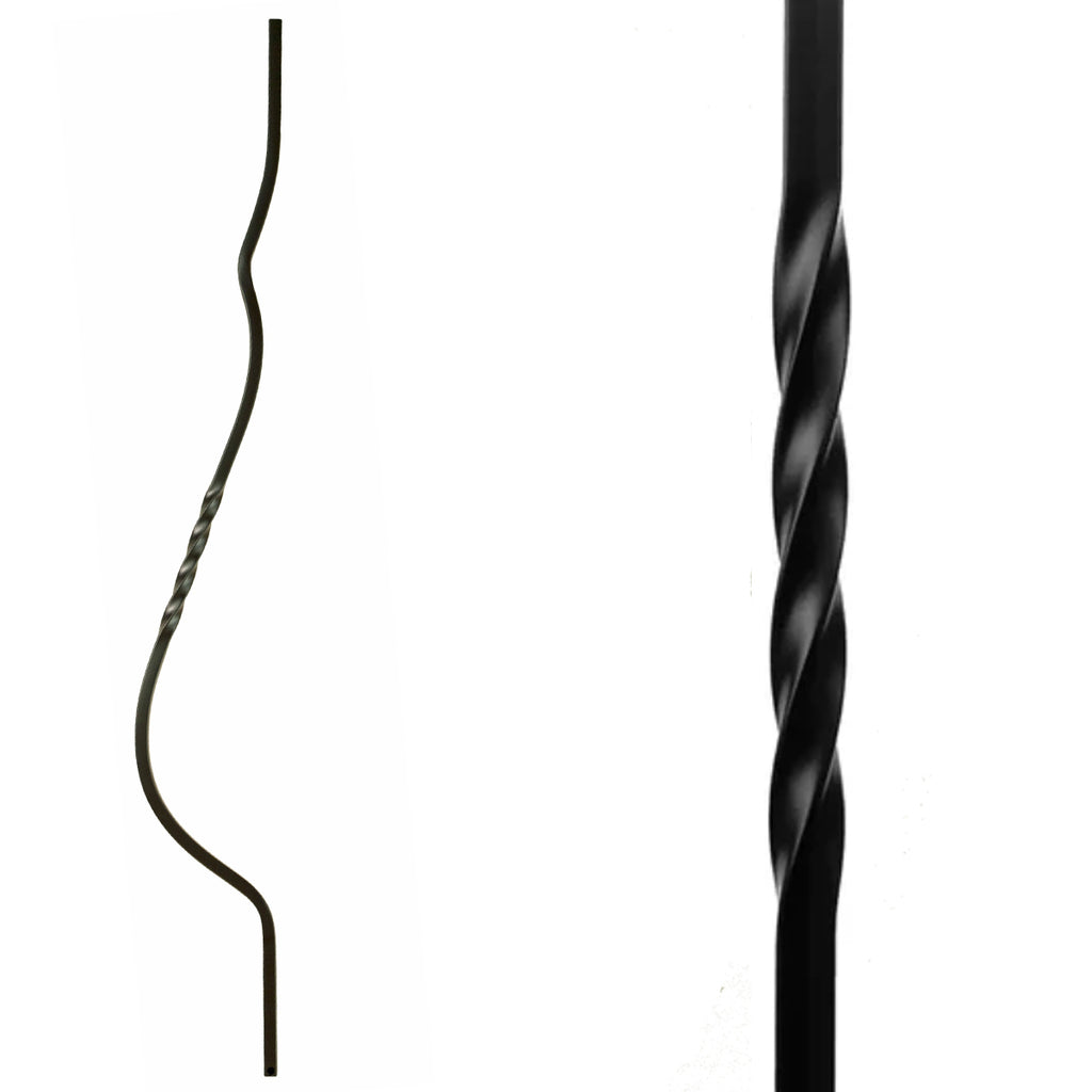 Single Twist Belly Wrought Iron Baluster