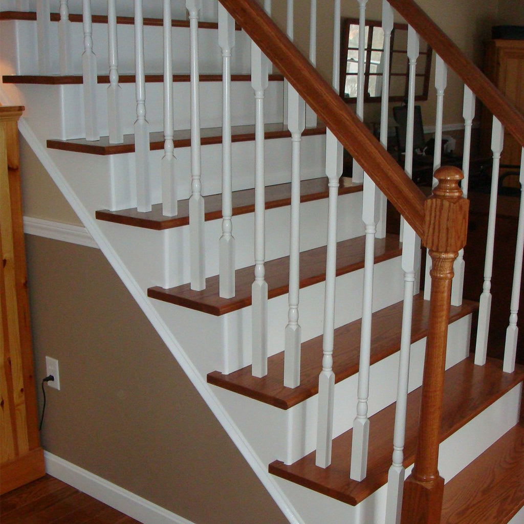 Square Top Wood Spindles for Stair Railing
