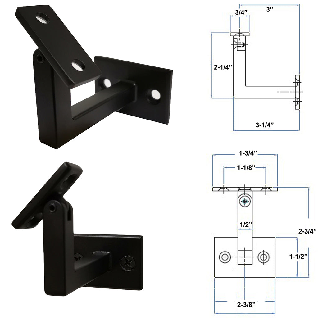 Modern Heavy-Duty Wall-Rail Bracket
