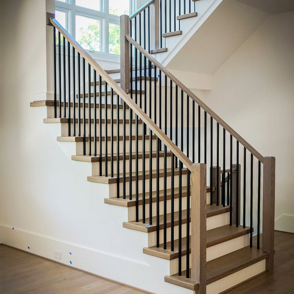 mega series plain square bar modern staircase