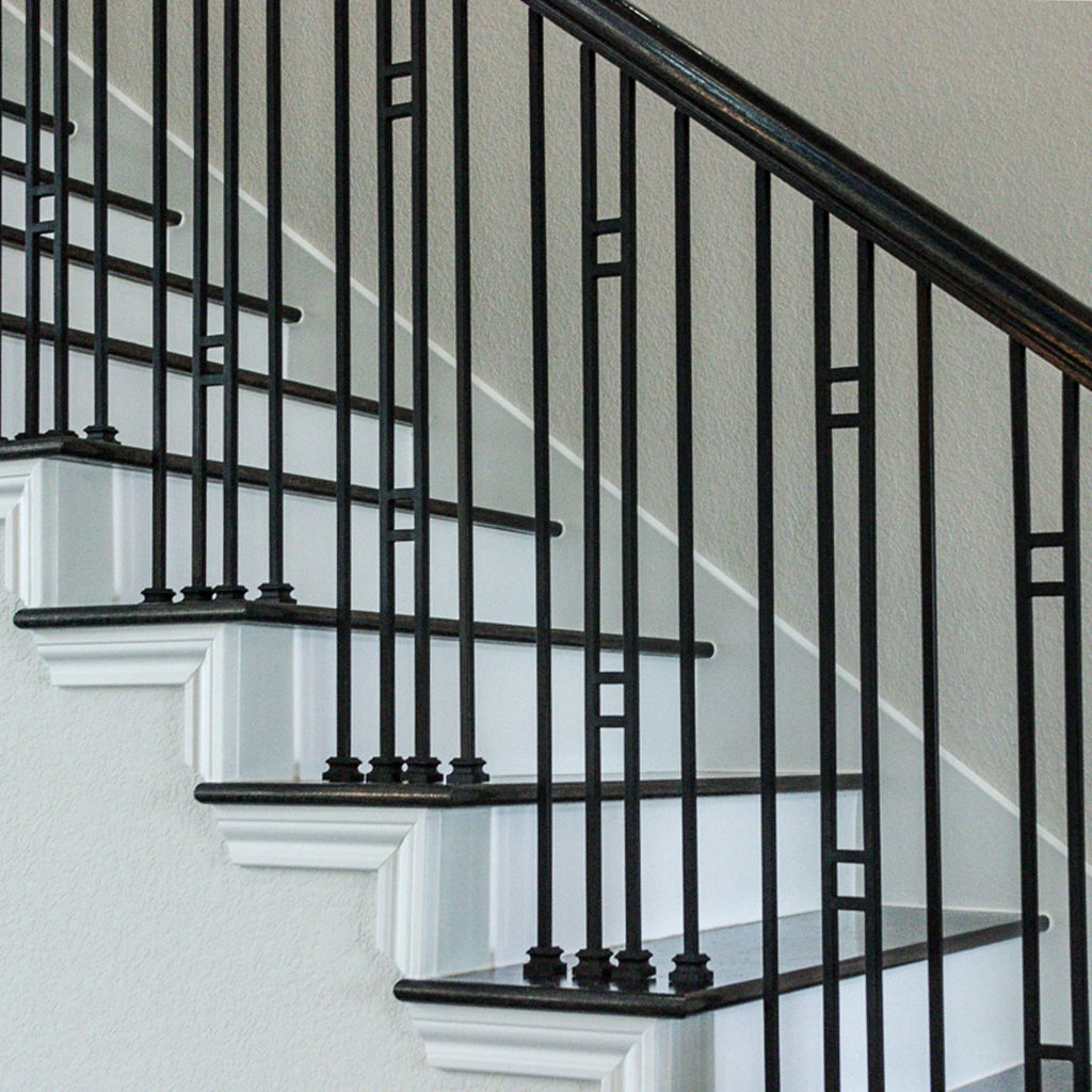 Cheap Double Bar Stair Iron Baluster