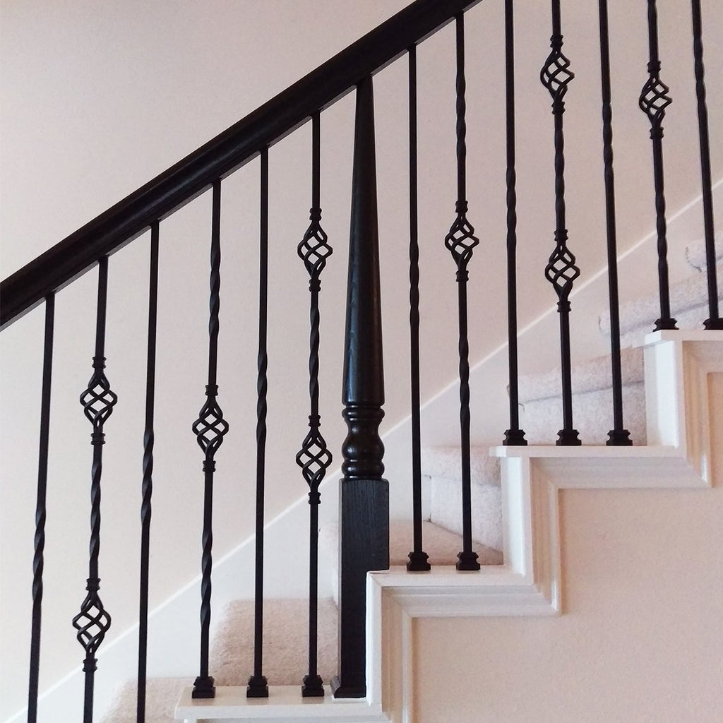 Stair Single Basket Metal Baluster