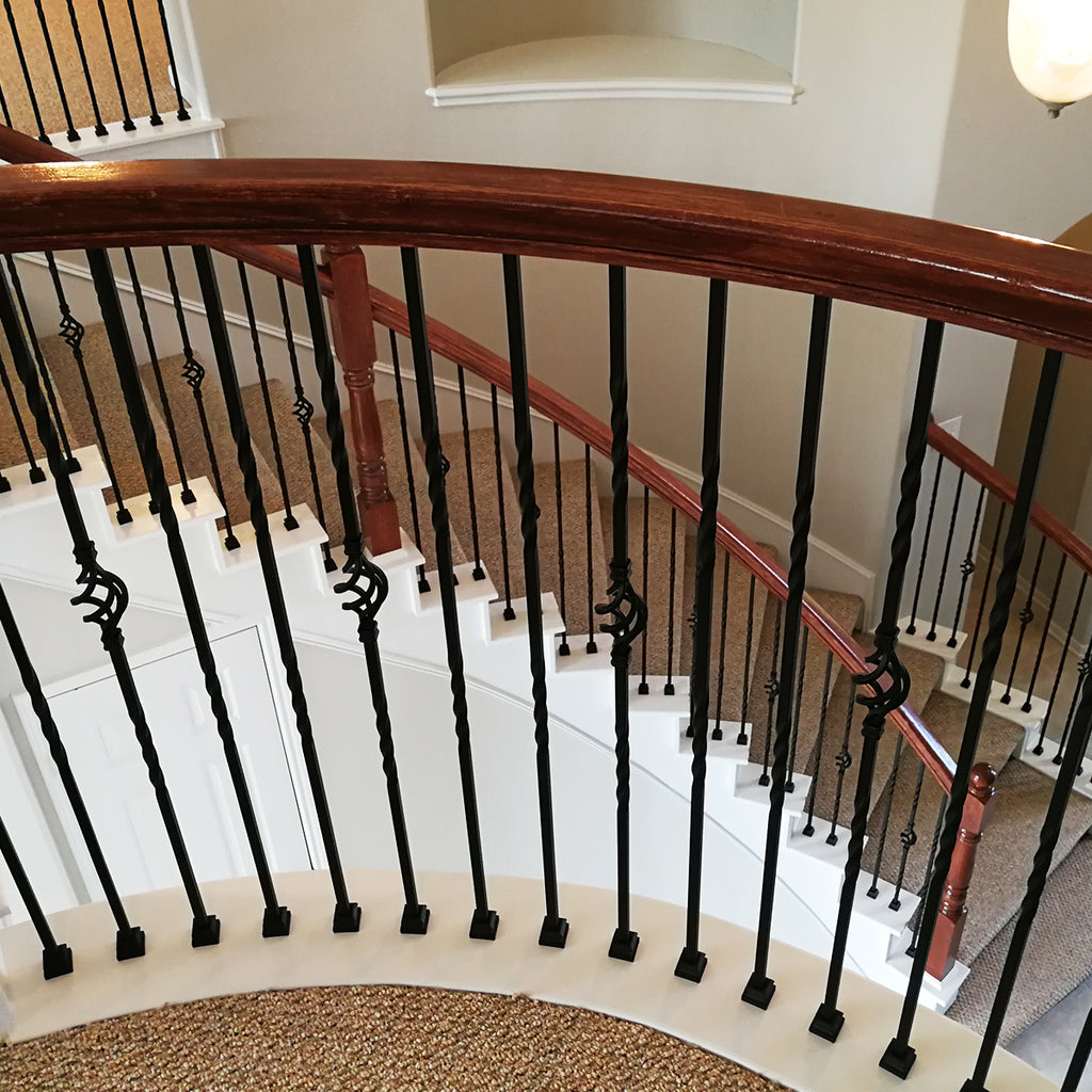 Staircase Double Twist Wrought Iron Baluster
