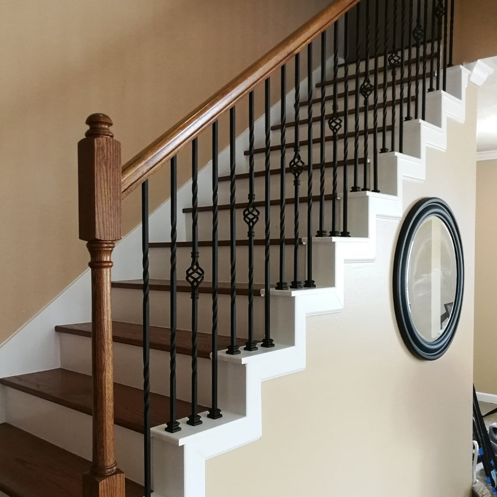 Double Twist Stair Iron Baluster