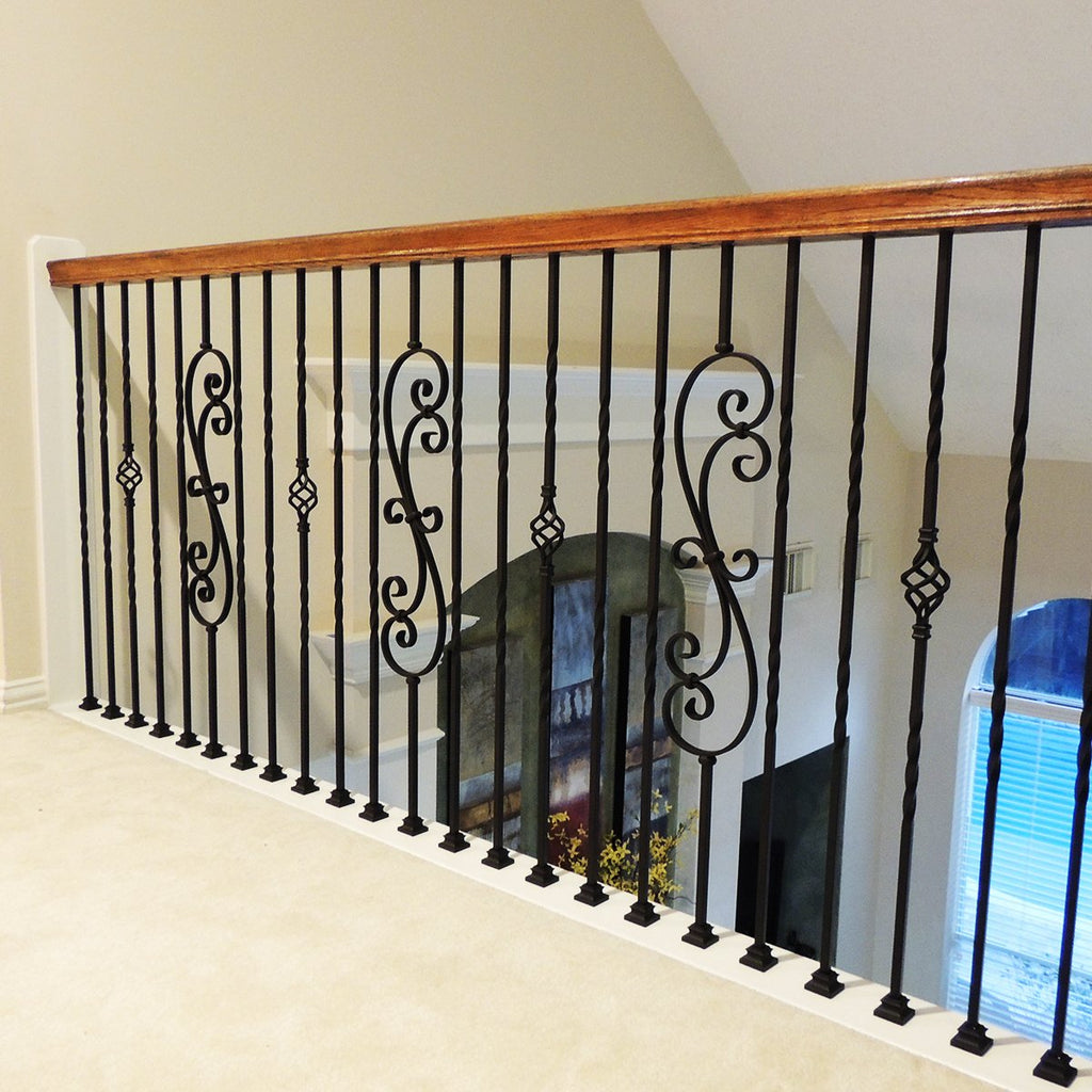 Stair Metal Railing Iron Balusters