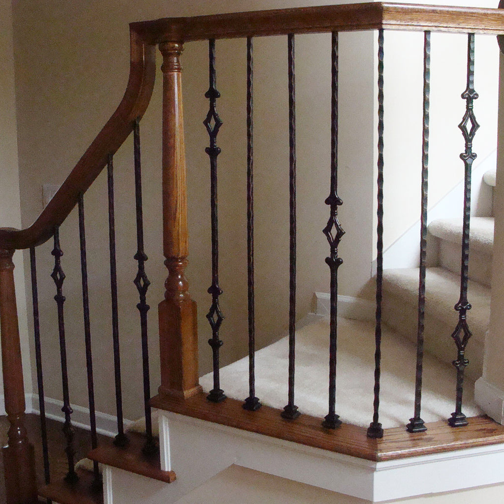 Double Window Hammered Iron Baluster