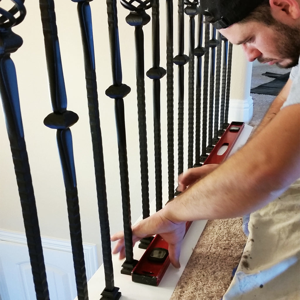 Stair Iron Balusters Epoxy Glue