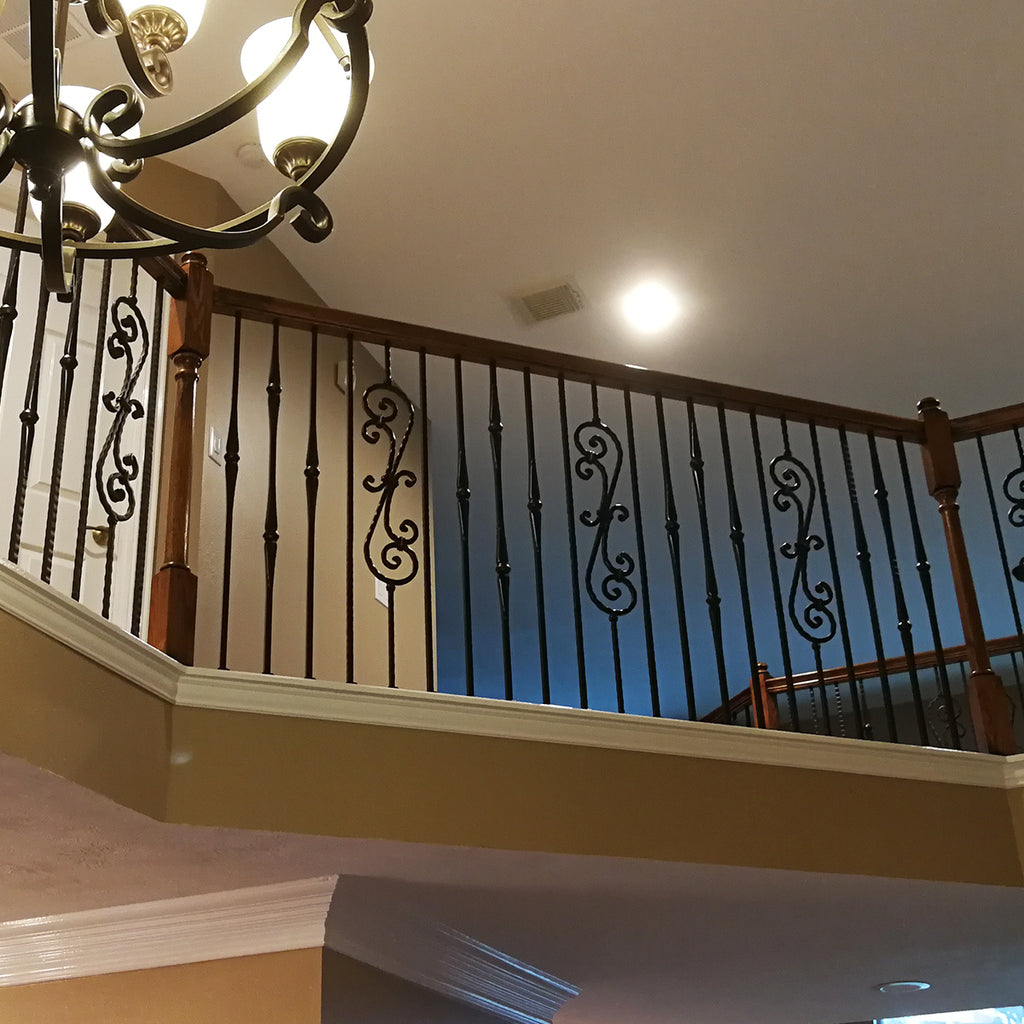 Gothic Hammered Iron Baluster