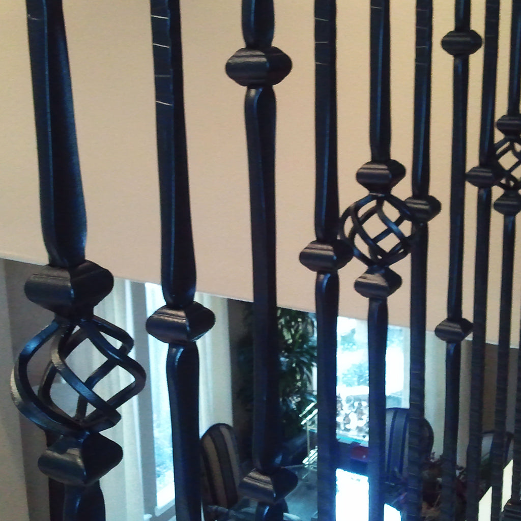 Gothic Double Knuckle Hammered Wrought Iron Baluster