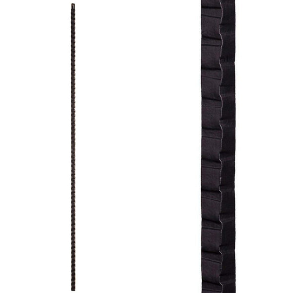 Gothic Hammered Straight Bar Wrought Iron Baluster