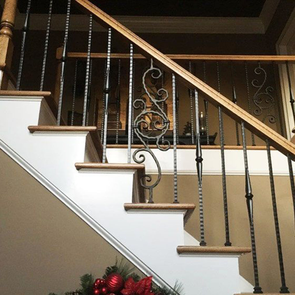 Gothic Hammered Wrought Iron Baluster