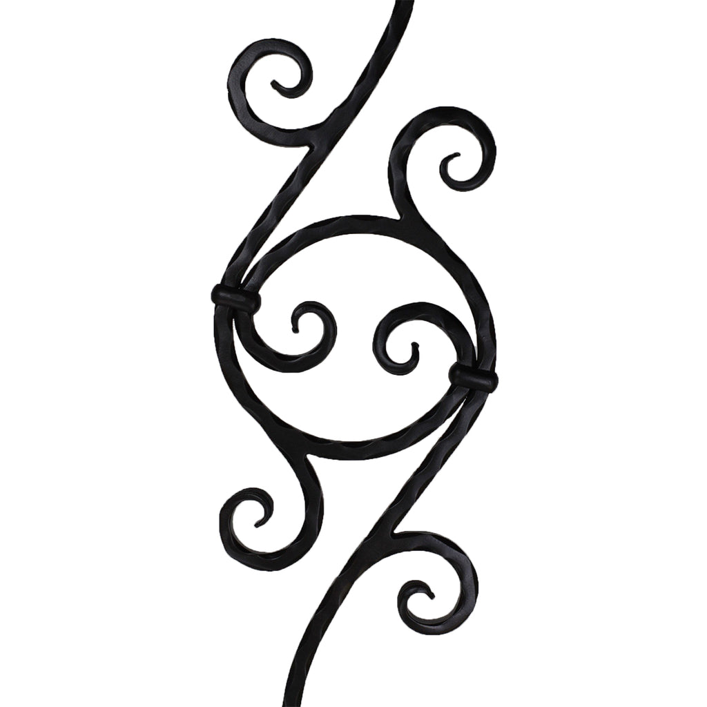 Circle Scroll Iron Baluster