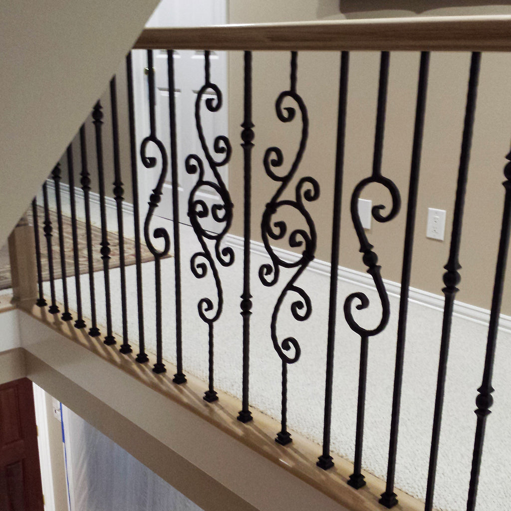 PC 26/1 Hammered Scroll Wrought Iron Baluster