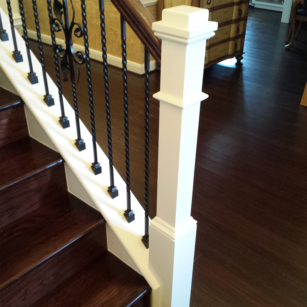 "Slant/Pitch Shoe for 1/2"" Iron Balusters"