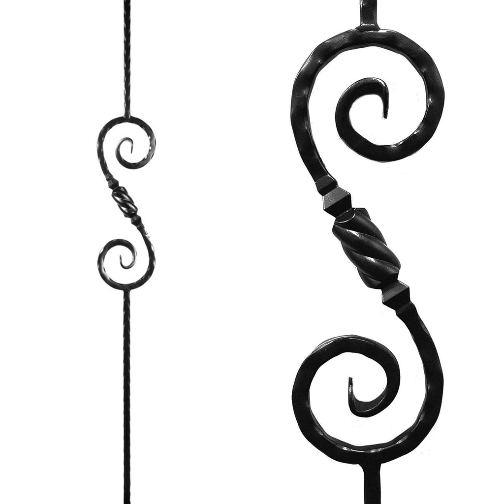 Affordable Knob Scroll Iron Baluster