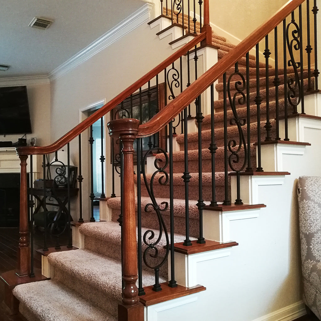 Stair Double Knuckle Wrought Iron Baluster
