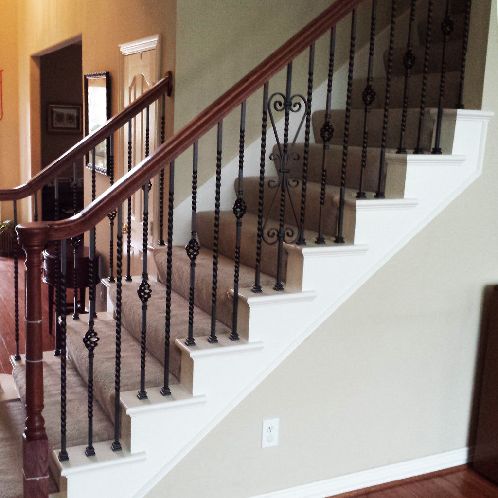 Affordable Long Twist Wrought Iron Baluster