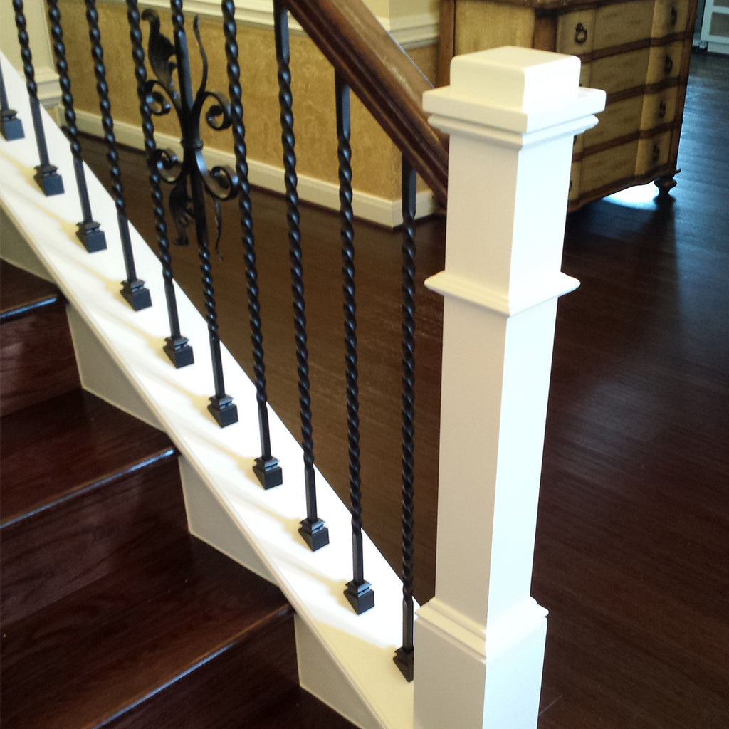 Metal Long Twist Wrought Iron Baluster
