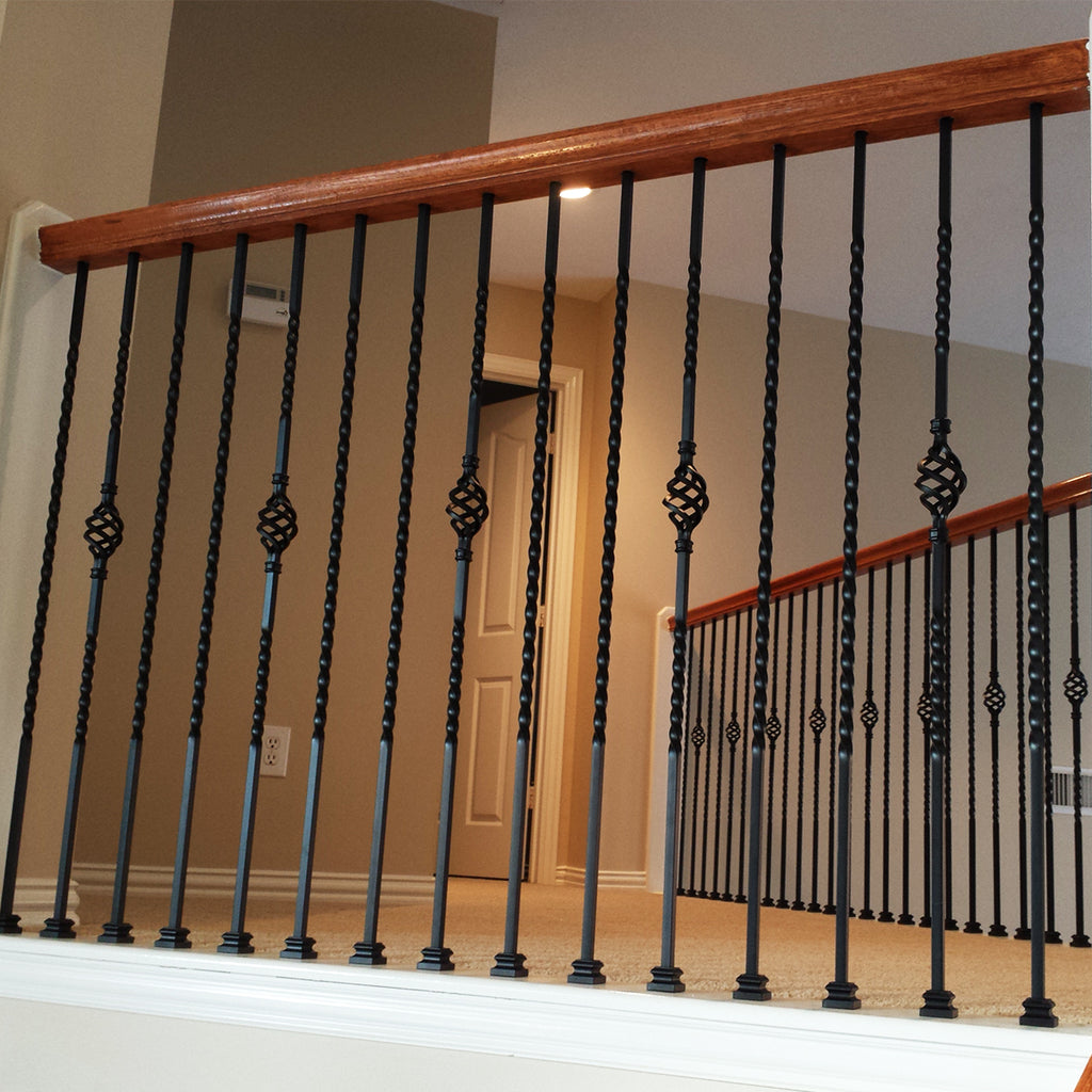 Long Twist Iron Baluster