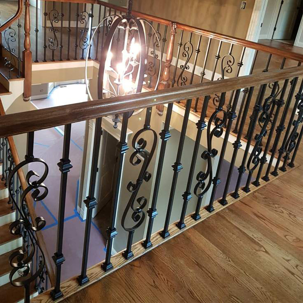 staircase mega double knuckle iron baluster