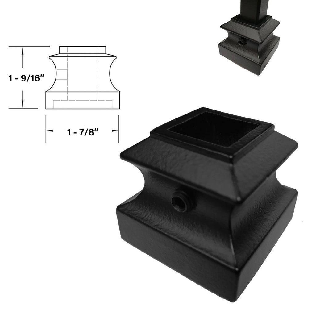 flat shoe for mega baluster with set screw