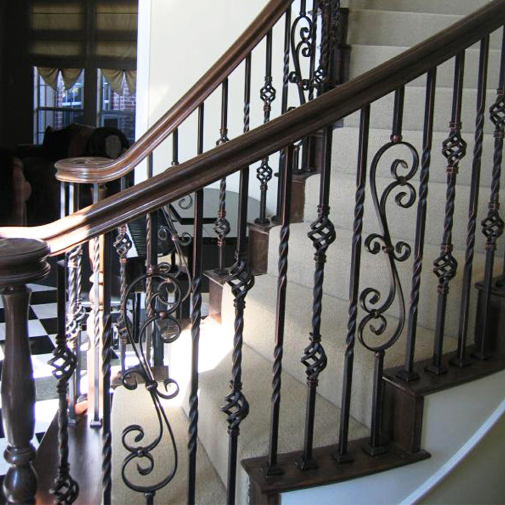 railing system wrought iron baluster scroll mega series