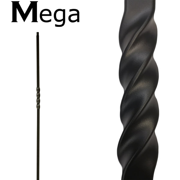 mega series single twist wrought iron baluster