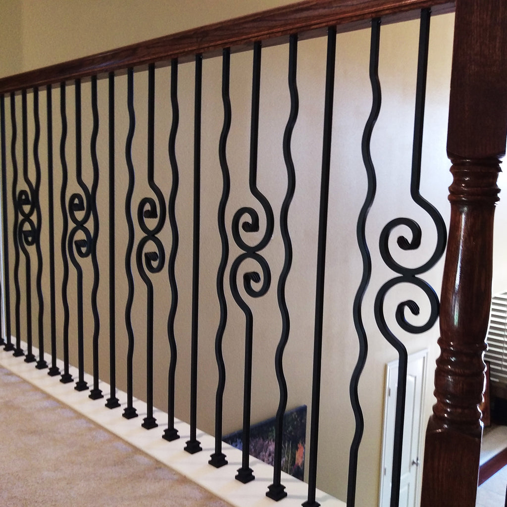 Affordable Double Spiral Nautilus Scroll Iron Baluster