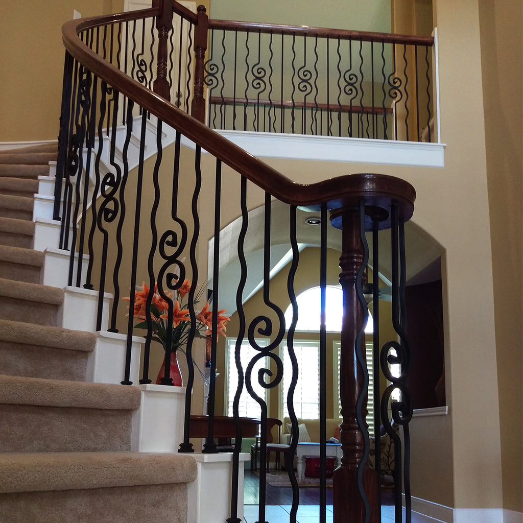Cheap Plain Square Bar Wrought Iron Baluster