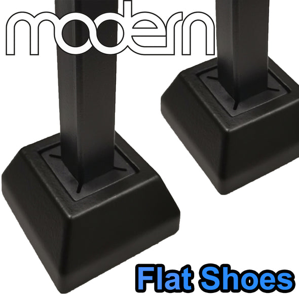 Stair Modern Flat Iron Baluster Shoe (Satin Black)
