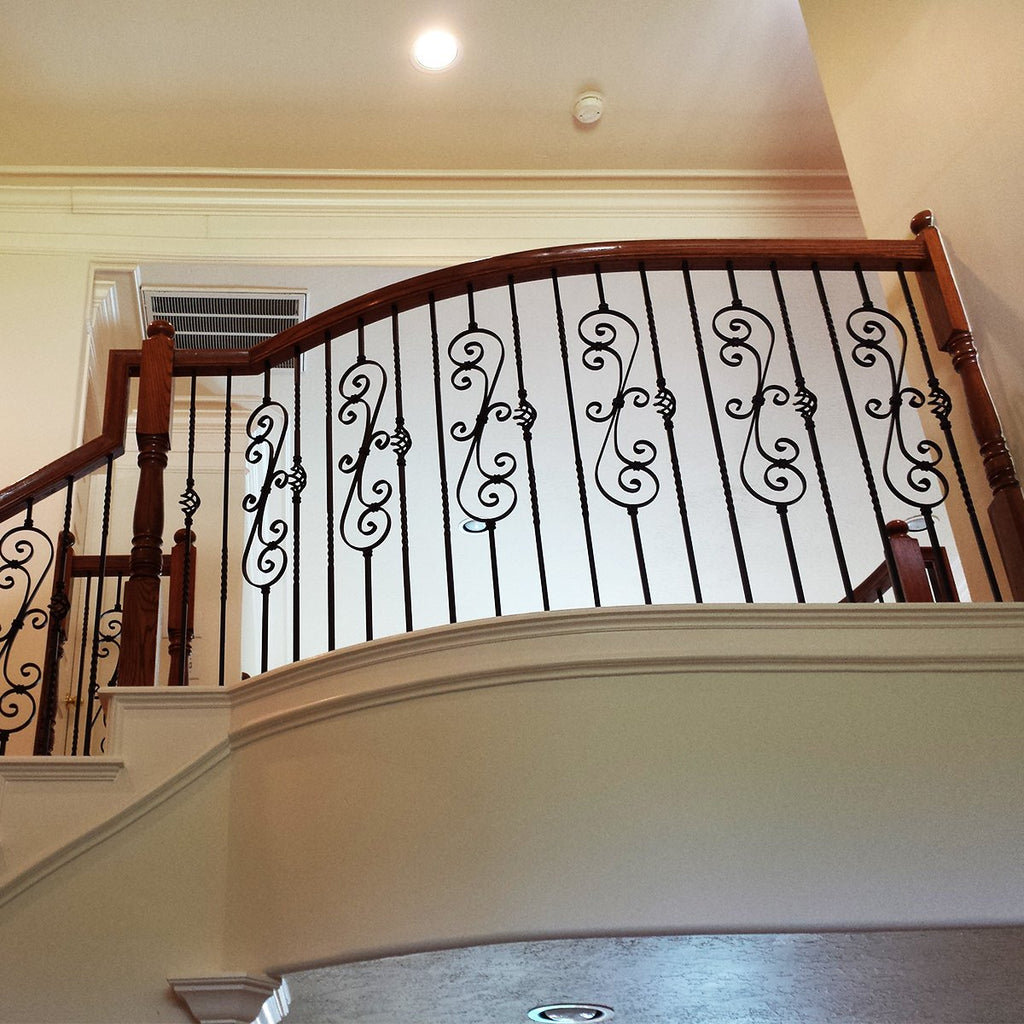 Stair Skinny Scroll Iron Baluster