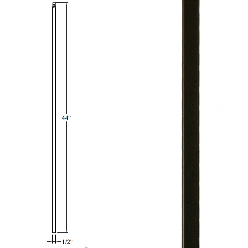 Affordable Stair Plain Square Bar Iron Baluster