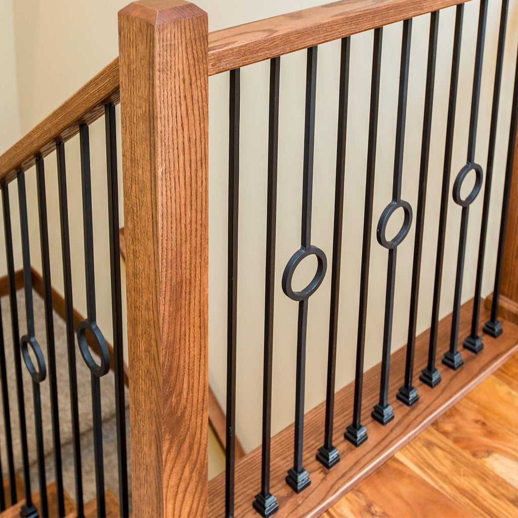 One circle stair iron balusters