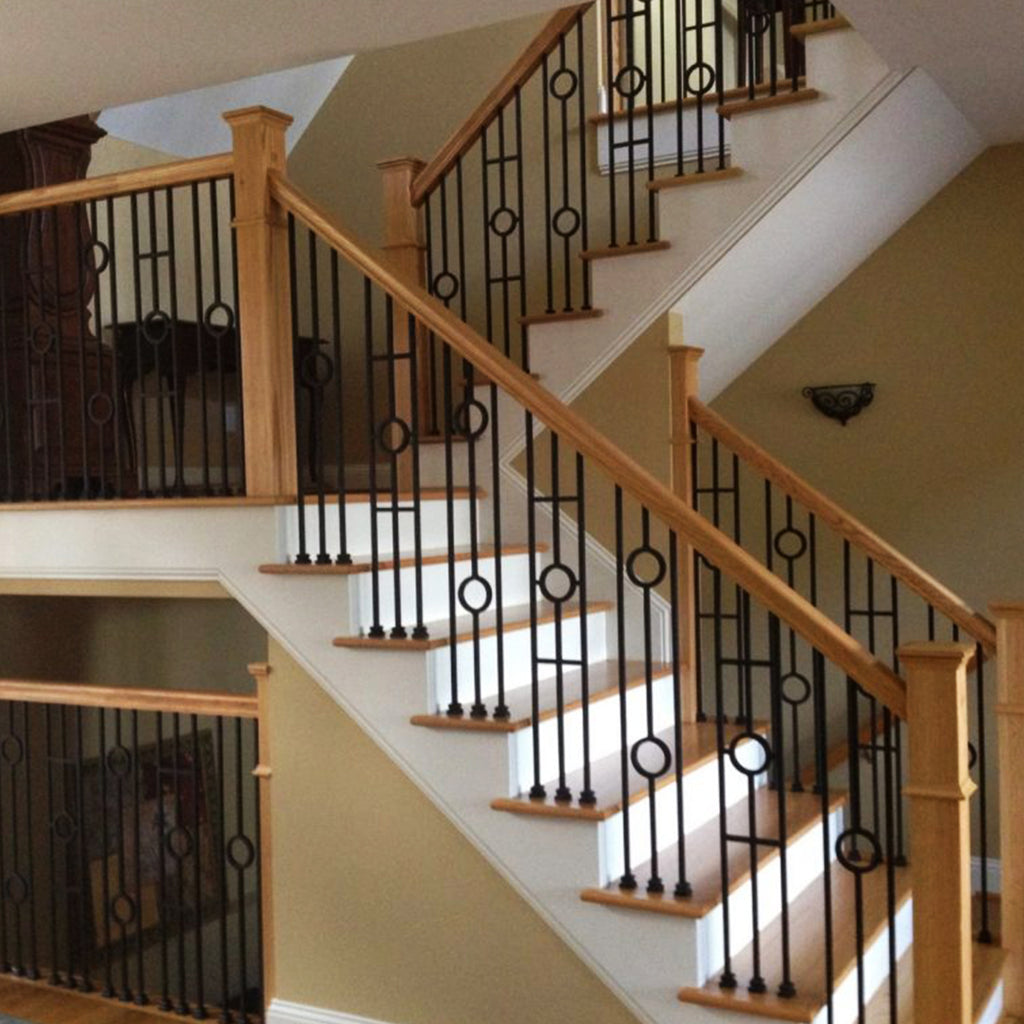 Double Circle Iron Baluster