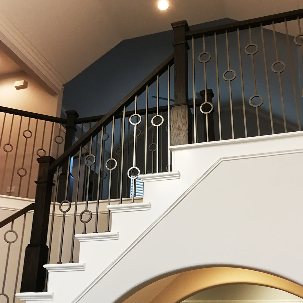 Stair Double Ring Wrought Iron Baluster