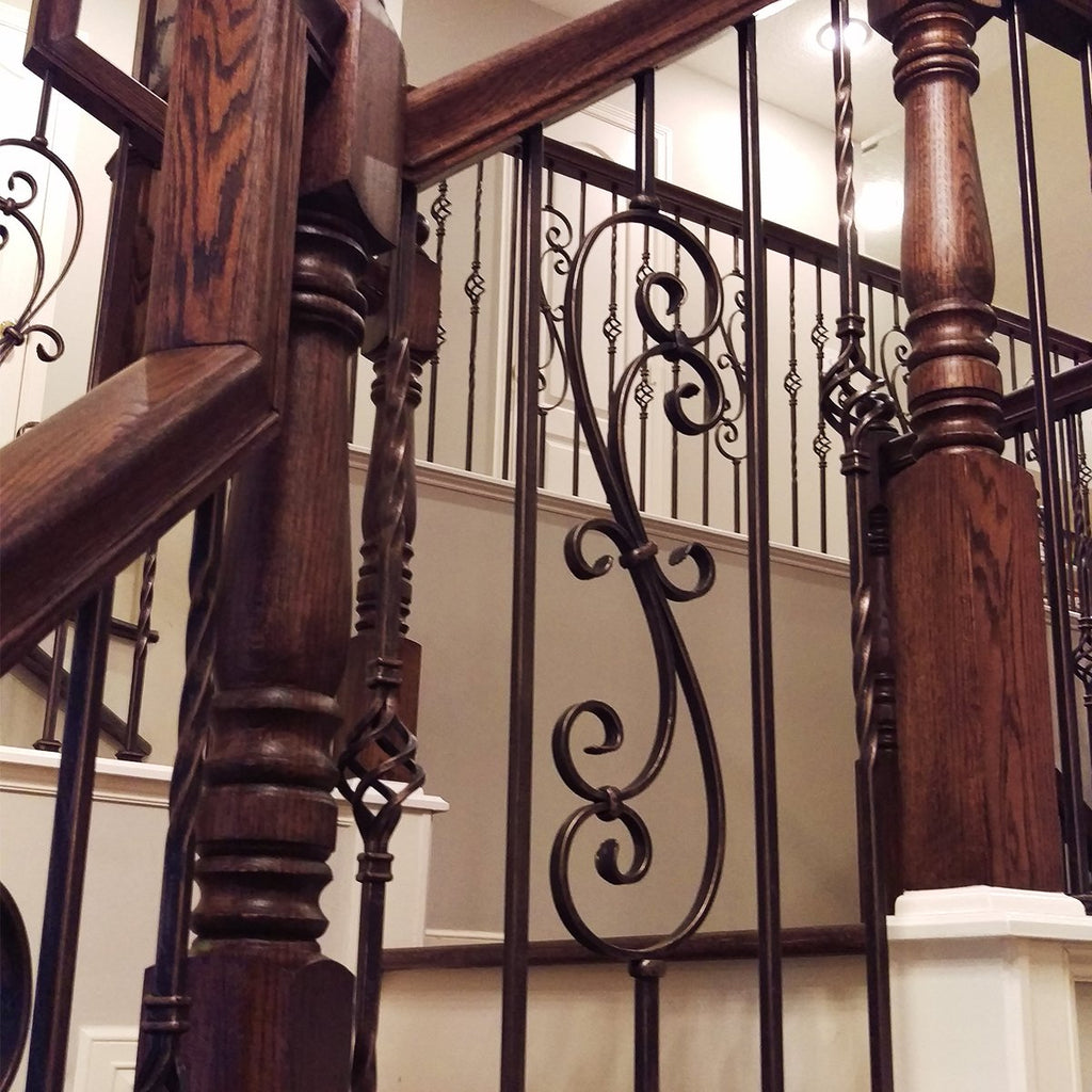 Scroll Metal Baluster for Stair Railing