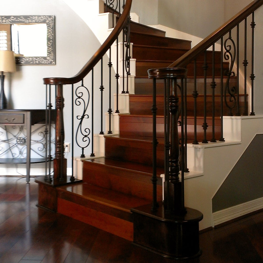 Stair Railing Scroll Wrought Iron Baluster