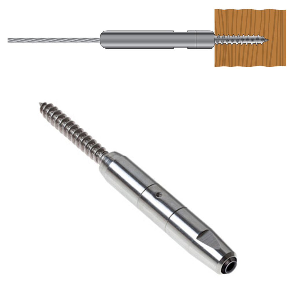 Stainless Steel Swagless Lag Screw Cable Terminal