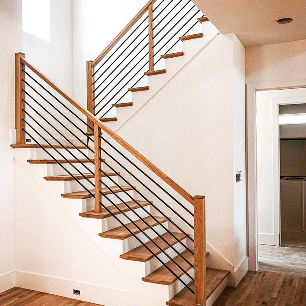 Stair Railing Metal Modern Horizontal Bar