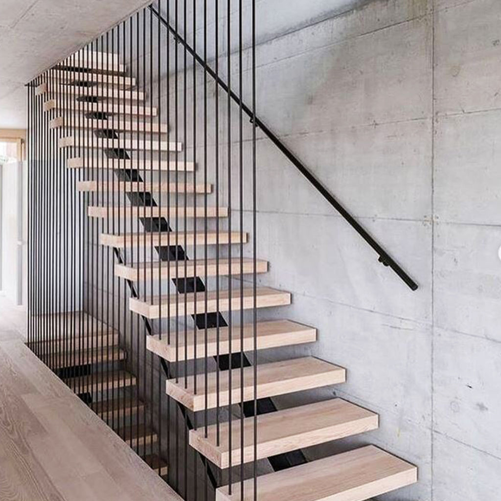 Stair Railing Steel Modern Horizontal Bar