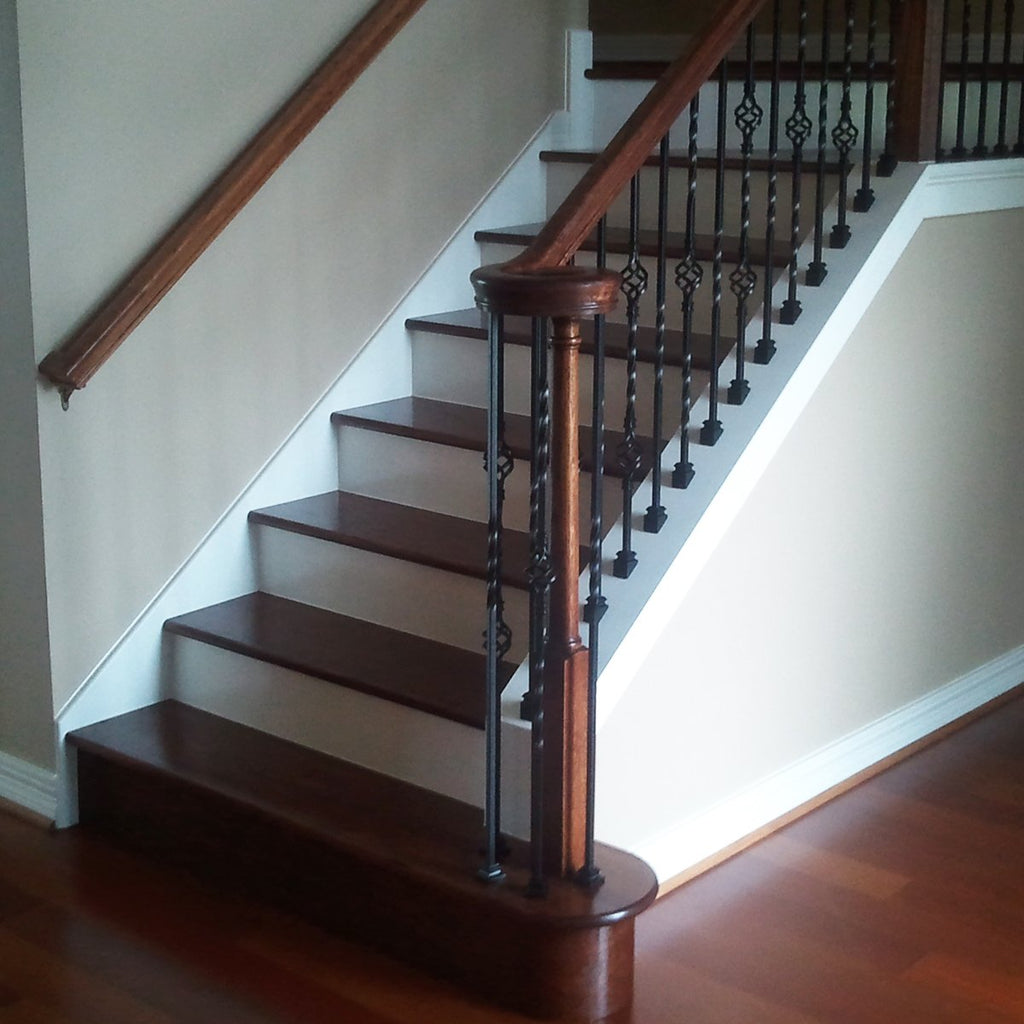 Spiral Stair Hardwood Tread Starting Step