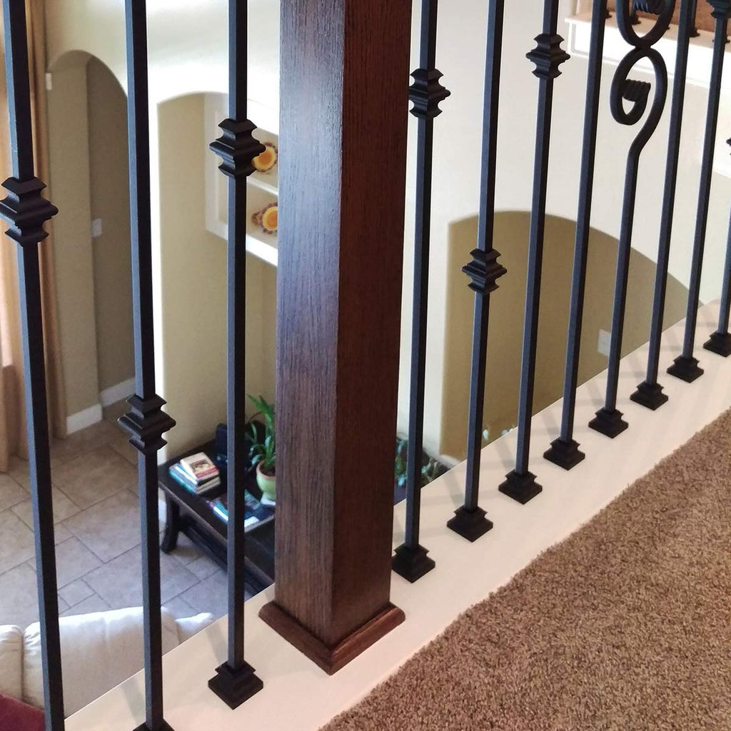 "Baluster Swap Flat Base Shoe for 1/2"" Square Balusters (No set screw - Must be glued)"