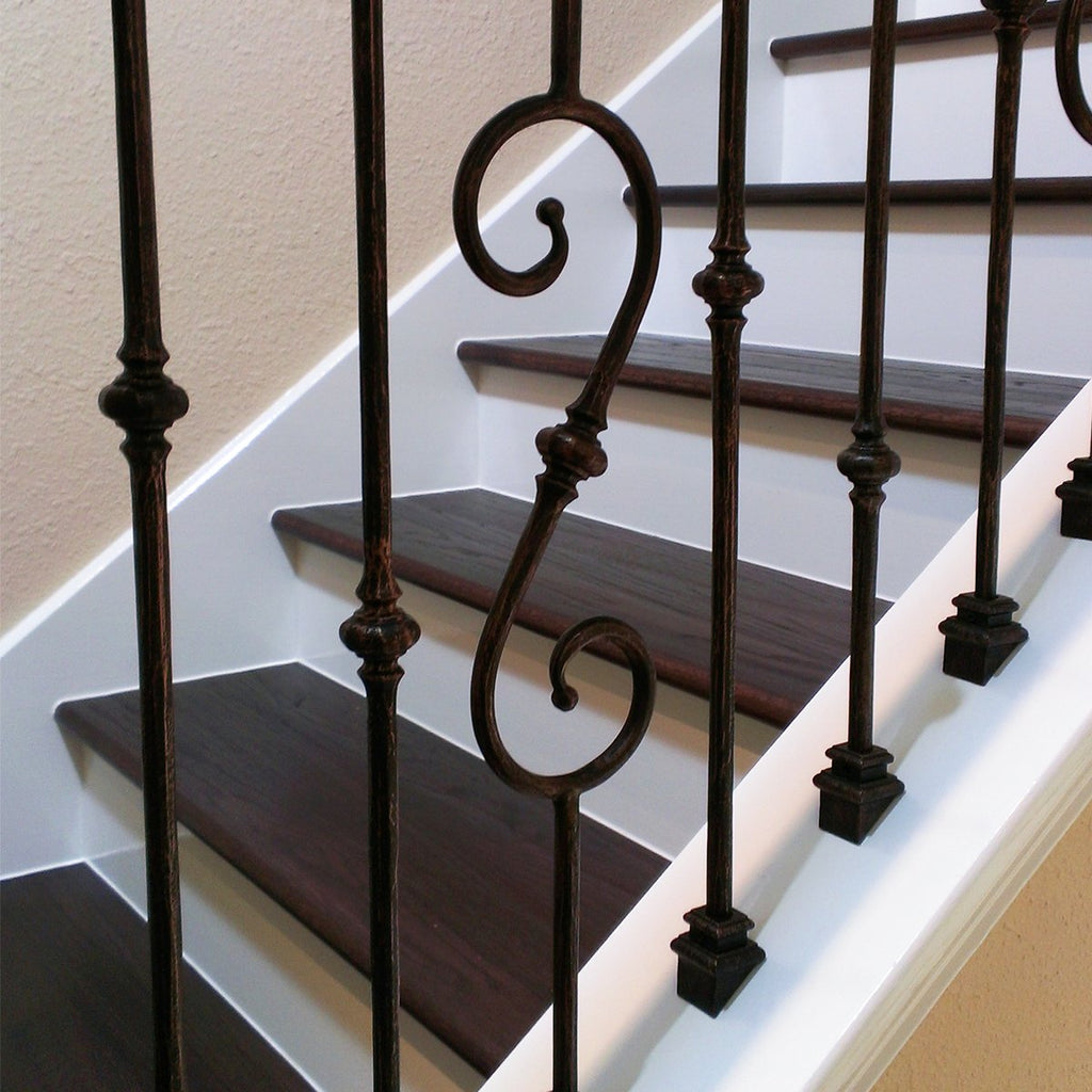 Cast Iron Baluster Shoes for Stair Railing Metal Spindles
