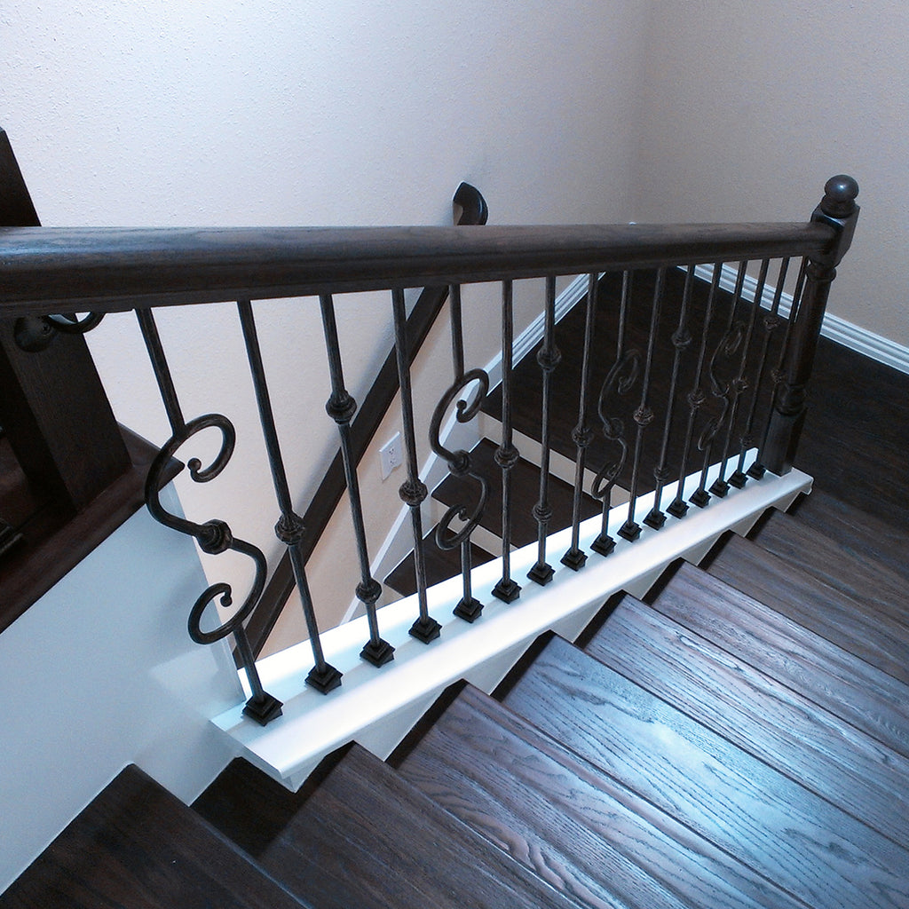 Staircase Wrought Iron Baluster Shoes