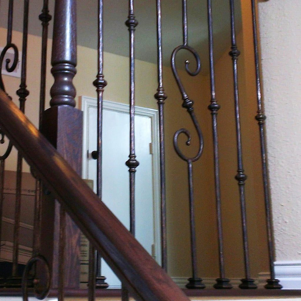 Tuscan Flat Wrought Iron Baluster Shoes
