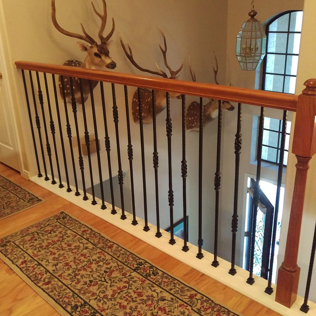 Black Stair Railing Metal Spindles