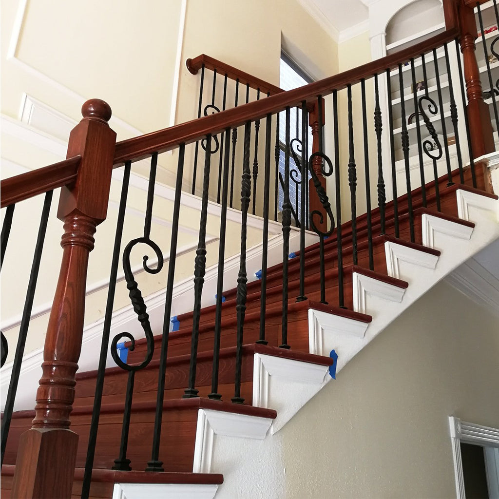 Stair Railing Hammered Iron Balusters